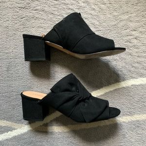 Suede Bow Mules